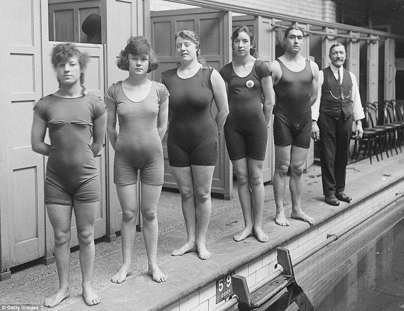 Streamlined History of Women's Swimwear