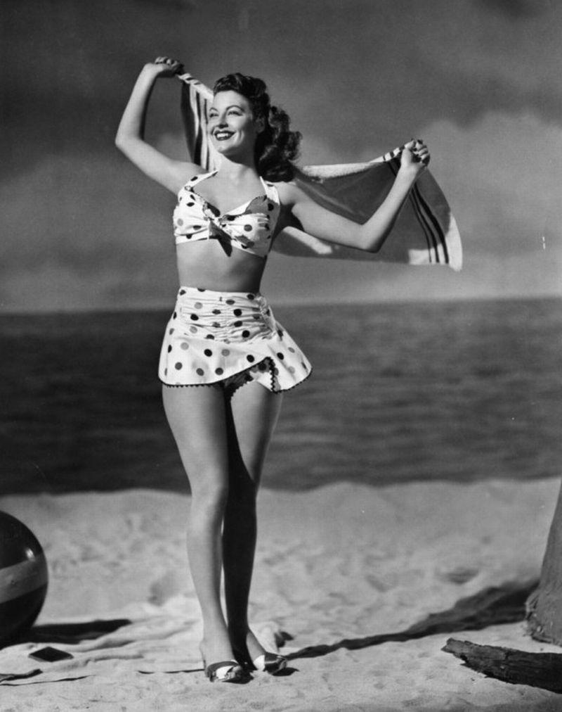 Vintage Two-Piece Swimwear