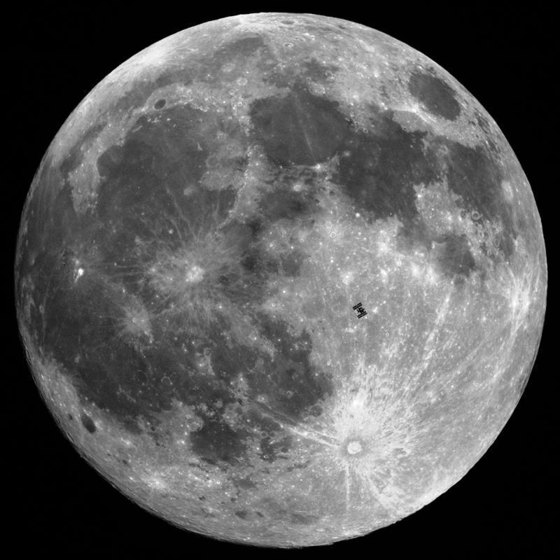 International Space Station Moon