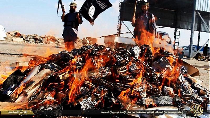 ISIS Burning Cigarettes