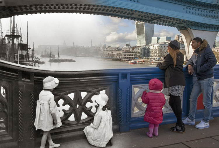 London Then Now Bridge