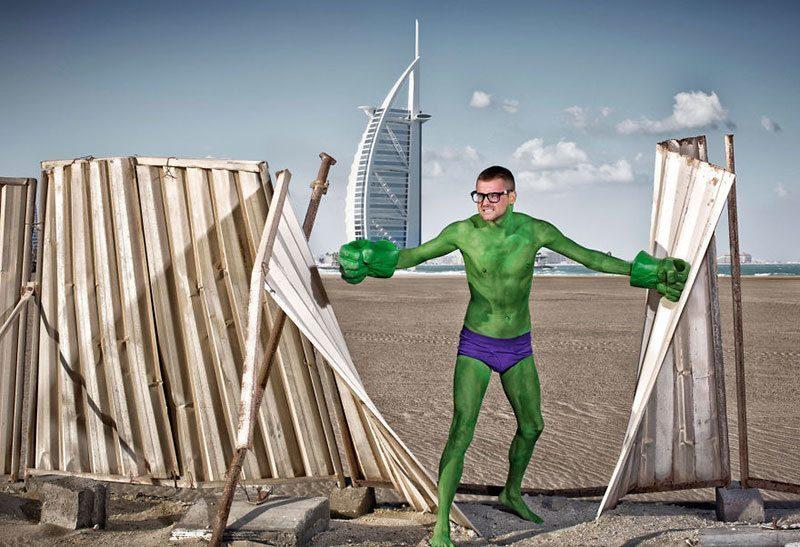 Funny Hulk in Speedo