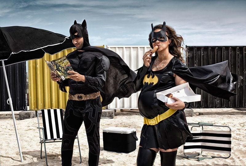 Pregnant Batwoman Photography
