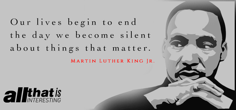Martin Luther King On Staying Silent