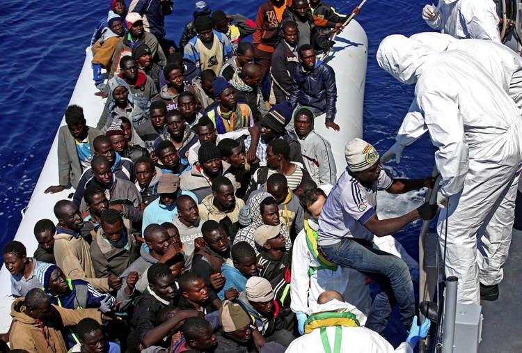 Migrant Crisis Rescue Boat