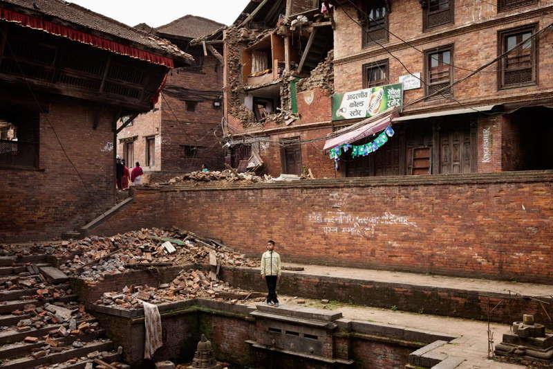 Nepal Earthquake Aftermath Boy