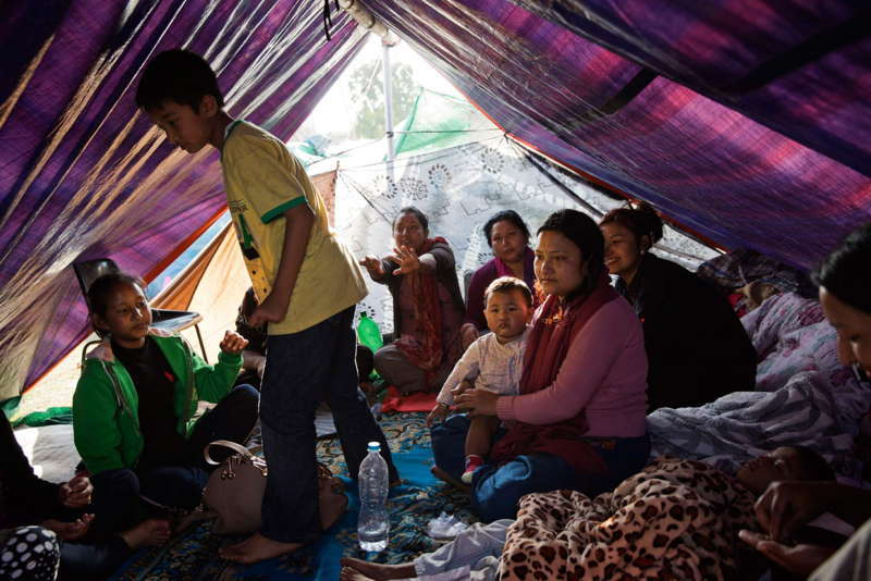 Nepal Earthquake Aftermath Tent