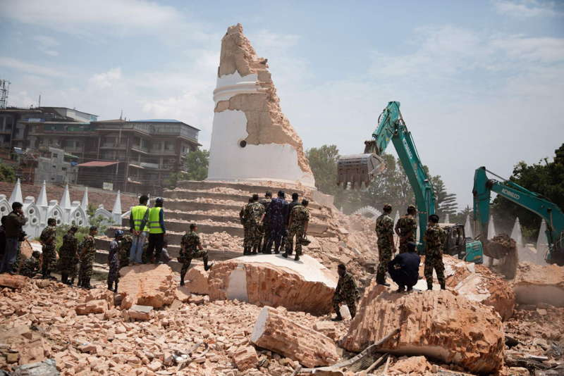 Nepal Earthquake Aftermath Tower