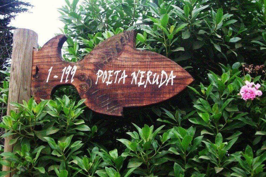 Neruda Street Sign