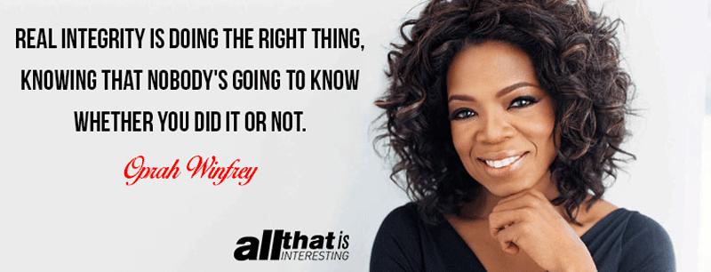 Oprah Winfrey On Integrity