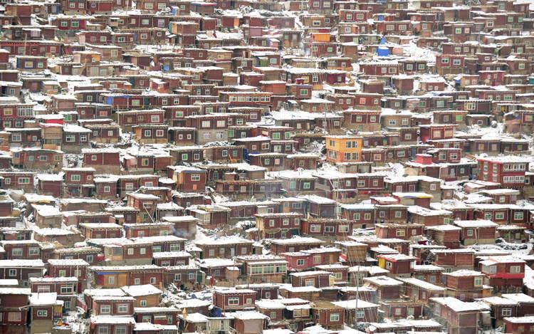 Seda Monastery Tibet Houses