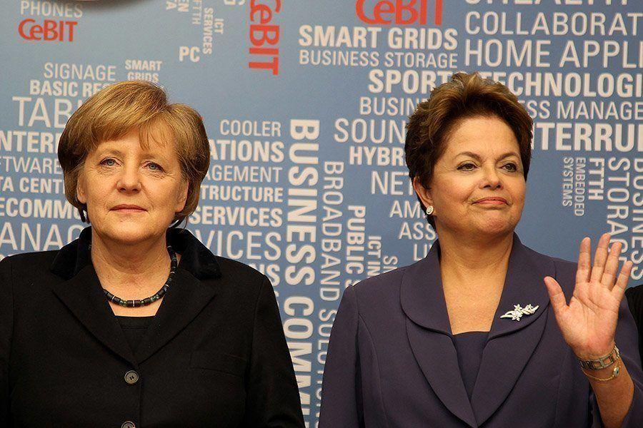 Snowden Revelations Rousseff Merkel