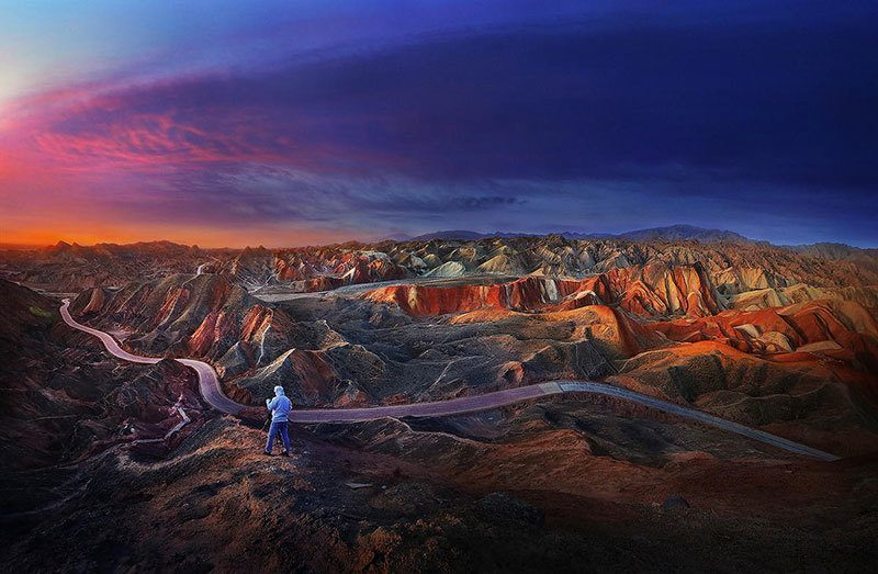 Colorful Mountains at Sunset