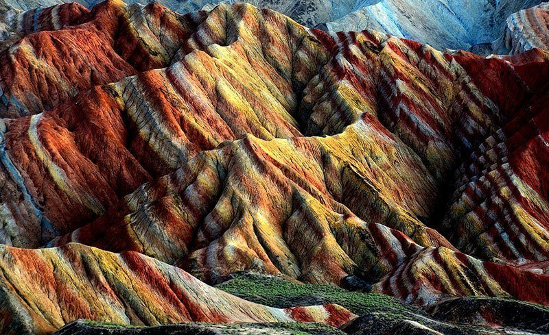 Striped Mountains in the Evening