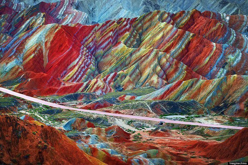 Striped Mountains in China