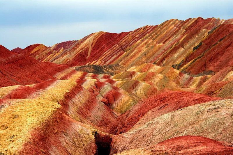 Red Sandstone Mountains China