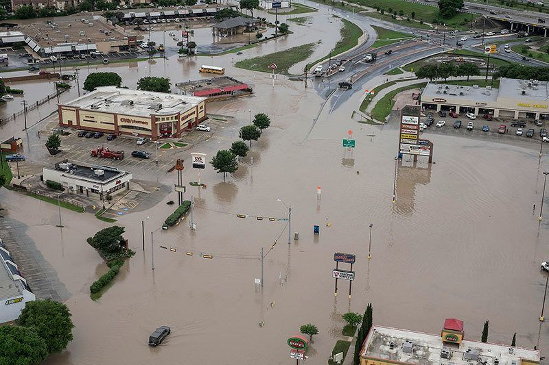 Texas Floods Aerial View