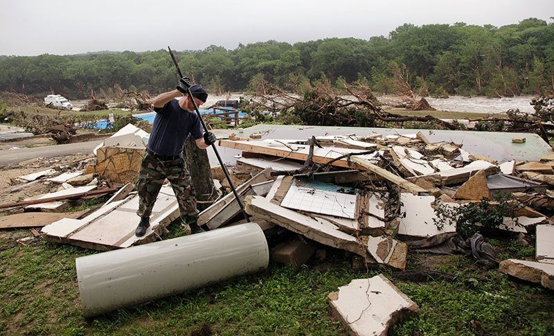 Texas Floods Aftermath Debris