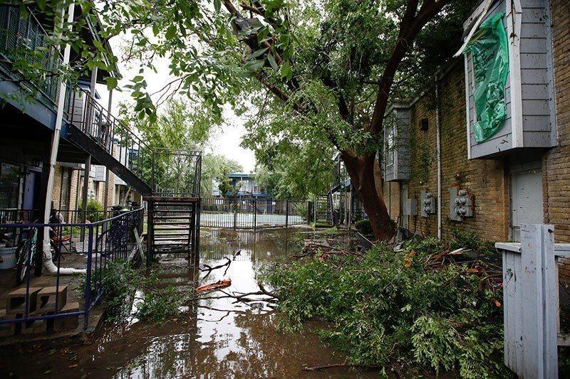 Texas Floods Downtown