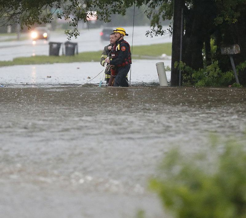 Texas Floods Firemen
