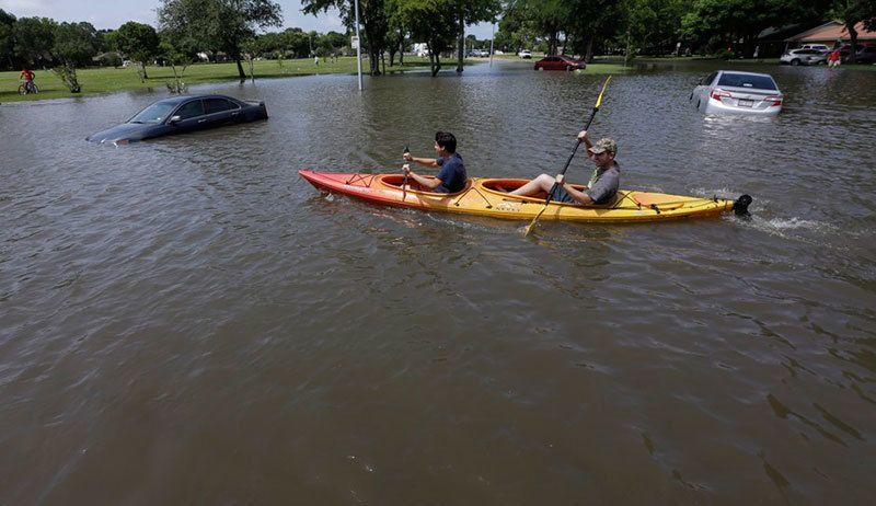 Kayaking Through Flood