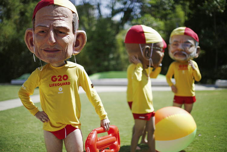 Tony Abbott Mask G20