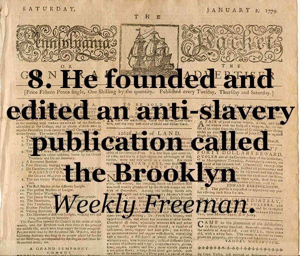 Whitman Anti-Slavery Supporter