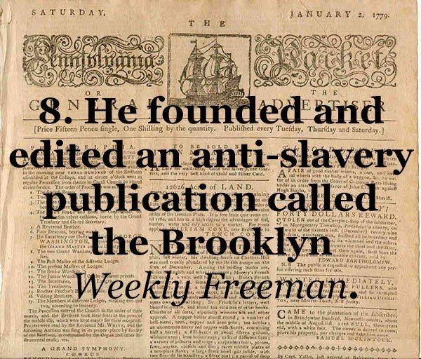 Whitman Anti-Slavery Supporter