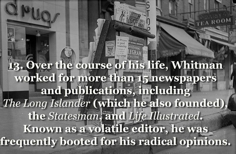 Walt Whitman Publishing Career