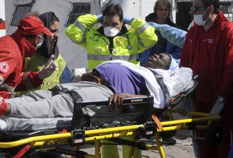 Injured woman rescued in Mediterranean sea