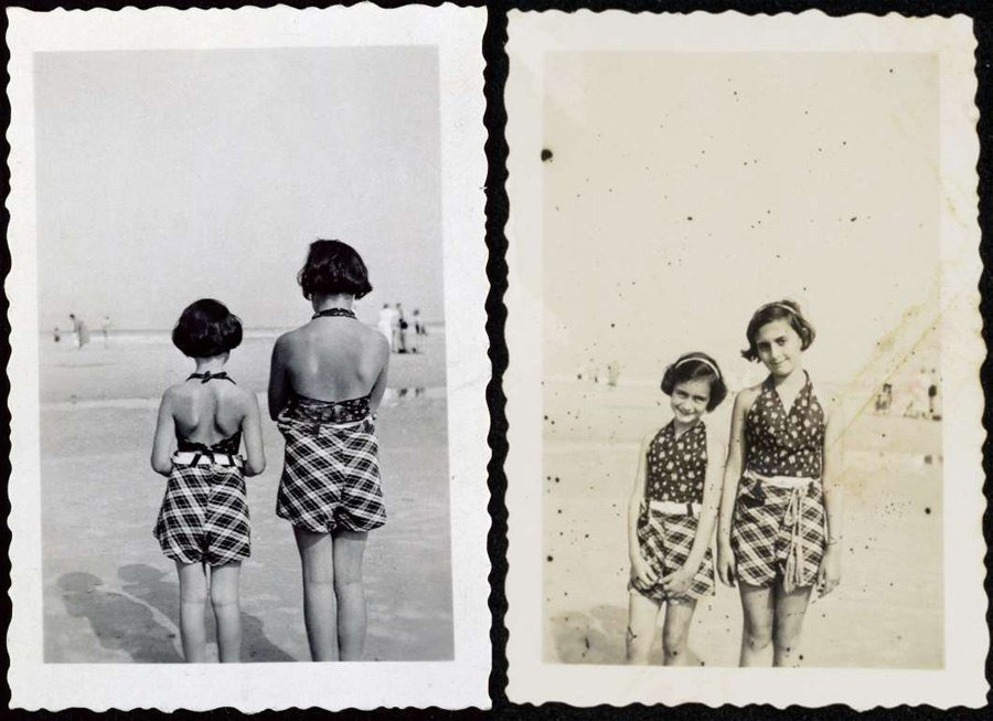 anne frank scrapbook beach