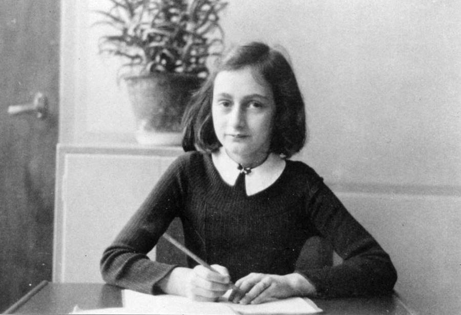 Anne Frank scrapbook schoolgirl