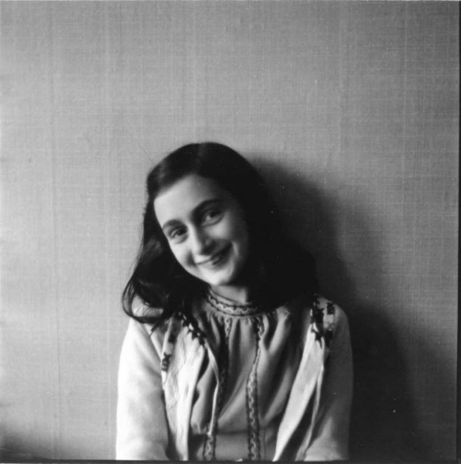 anne frank scrapbook smiling