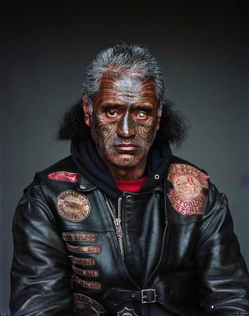 Biker Gang Face Tattoo