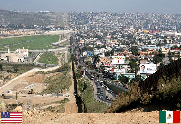 Border US Mexico Difference