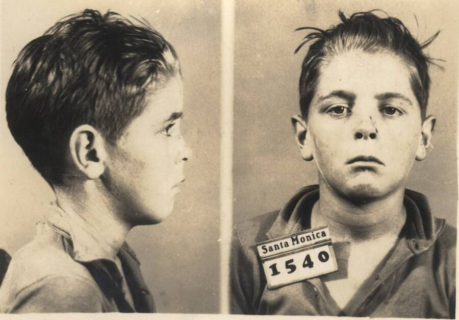 Mugshot Of A Child Criminal