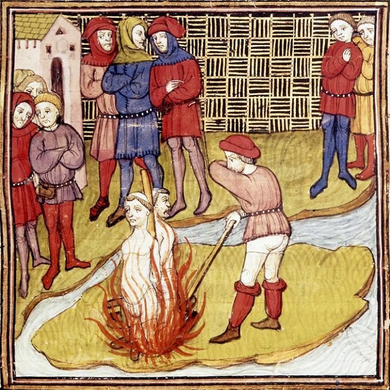 Clement V Burning Templars