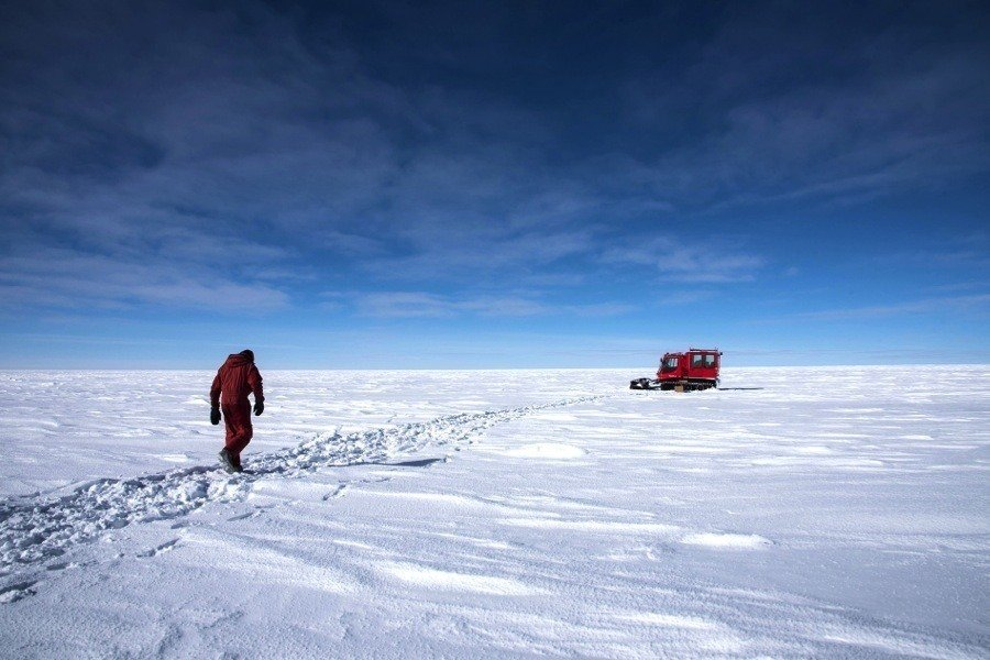Concordia Station Snowscape Isolation