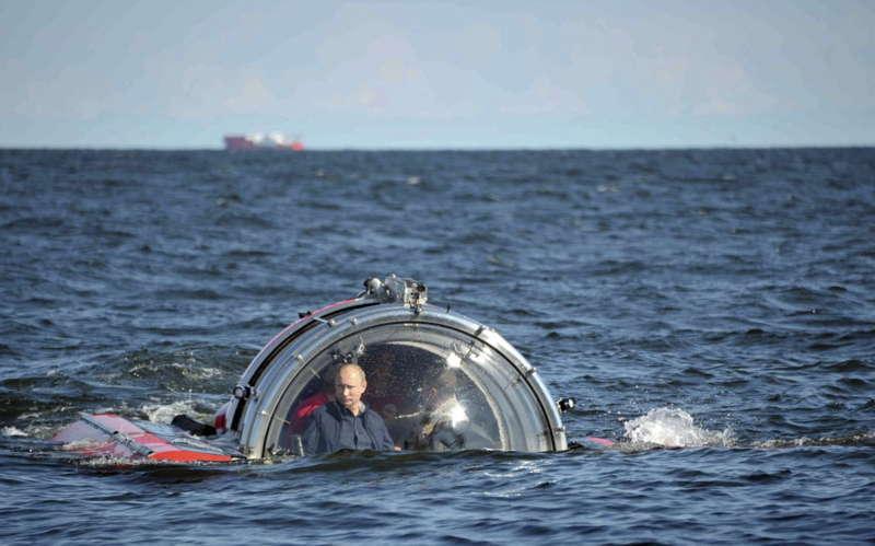 Glamorous Putin Baltic Sea
