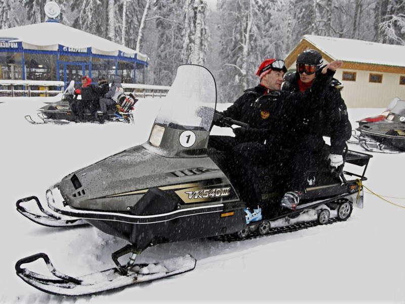Putin Snowmobile