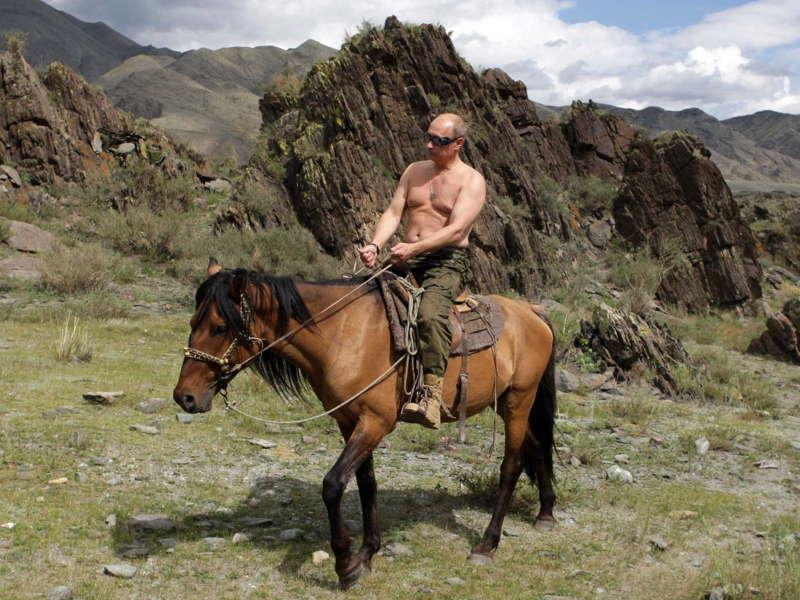 Putin Tuva Horse