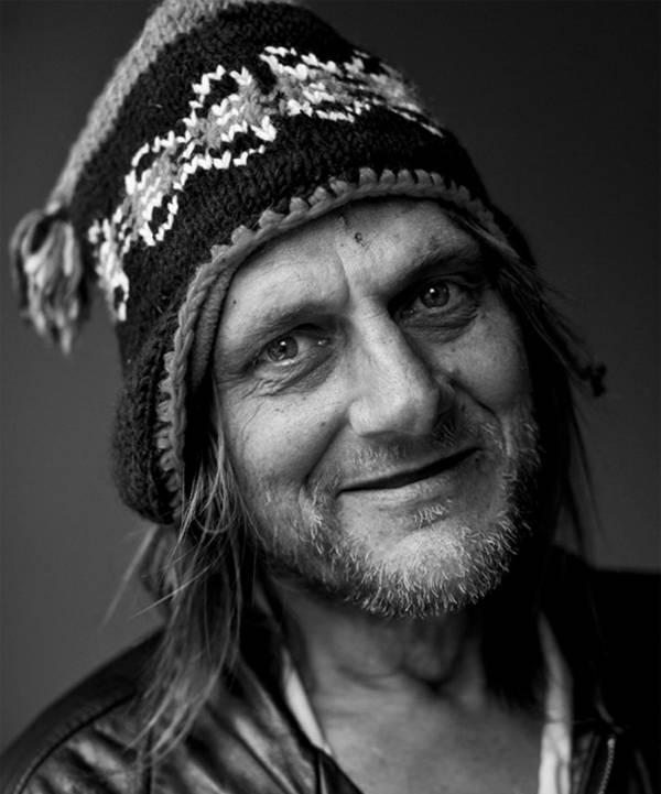 Homeless Portrait Hat Stubble