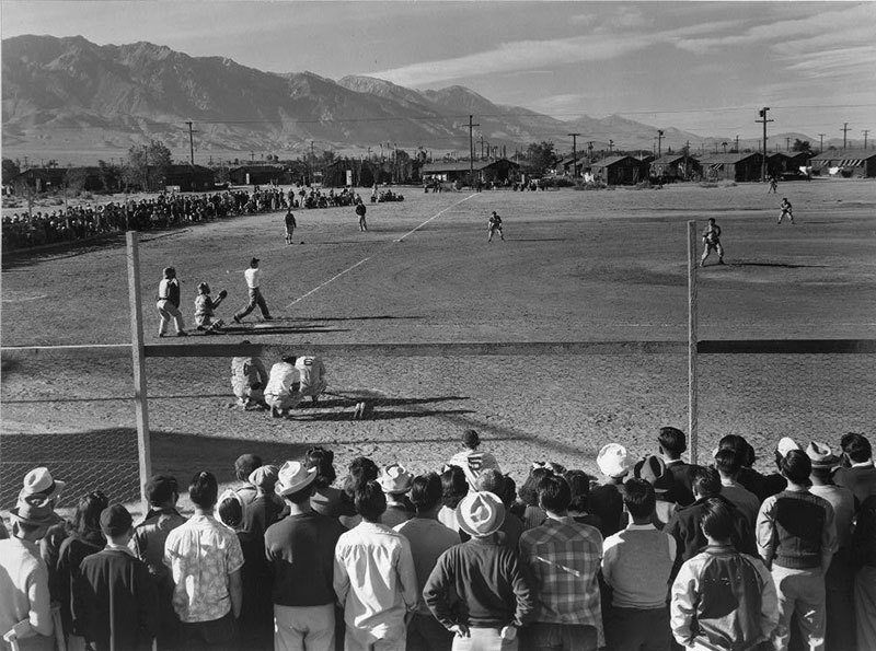 Manzanar Relocation Center Baseball Game