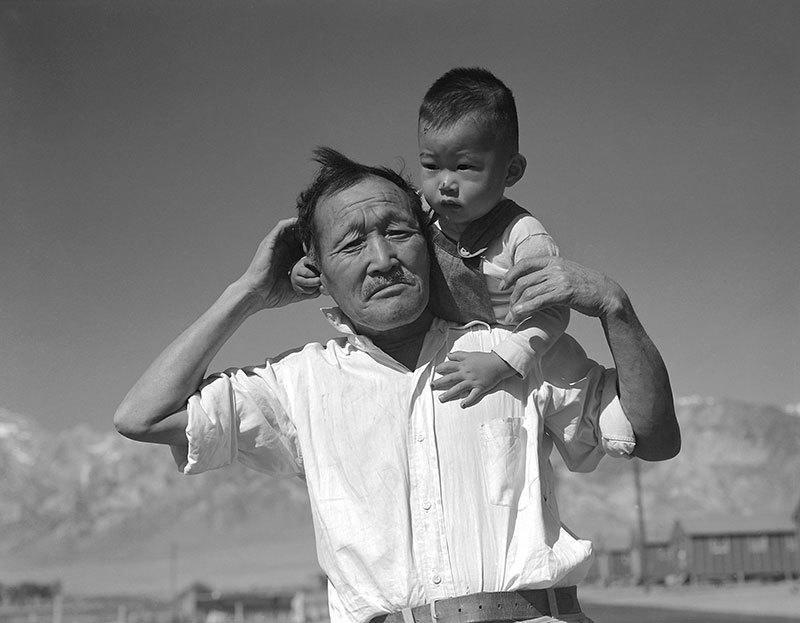 Manzanar Relocation Center Family