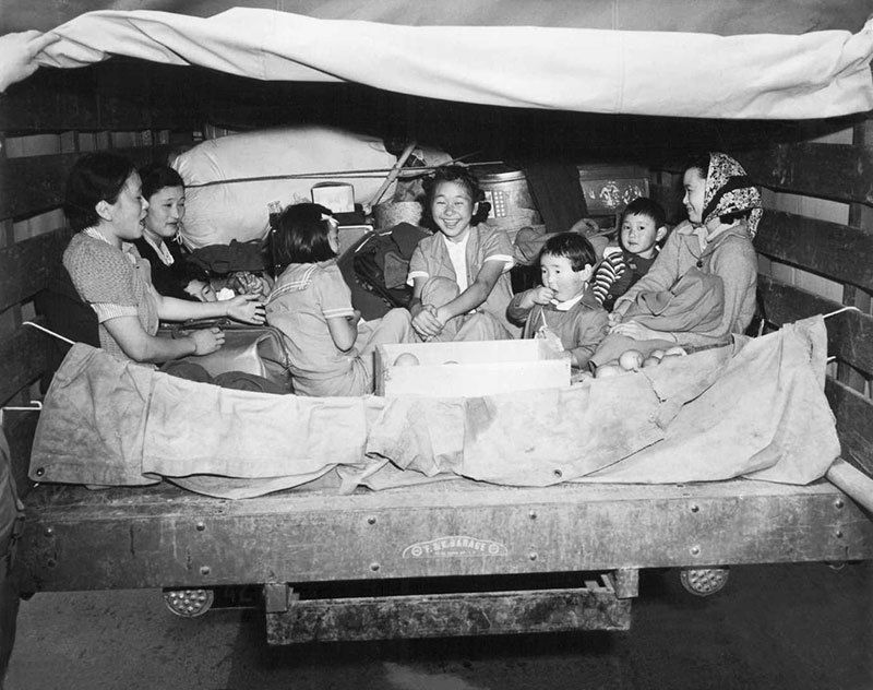 Manzanar Relocation Center Japanese Residents