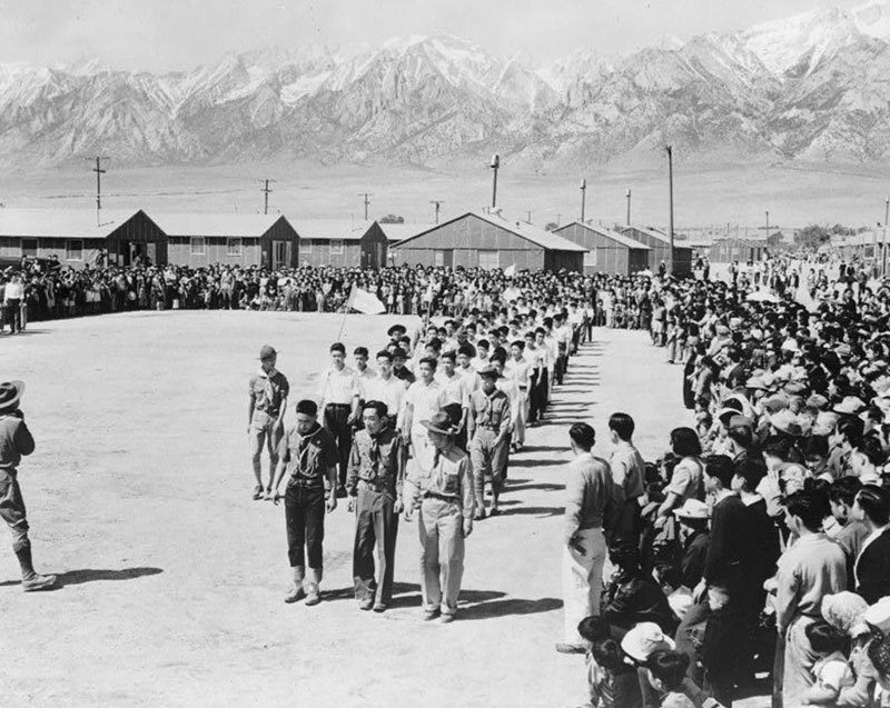 Manzanar Relocation Center Memorial Day 1942