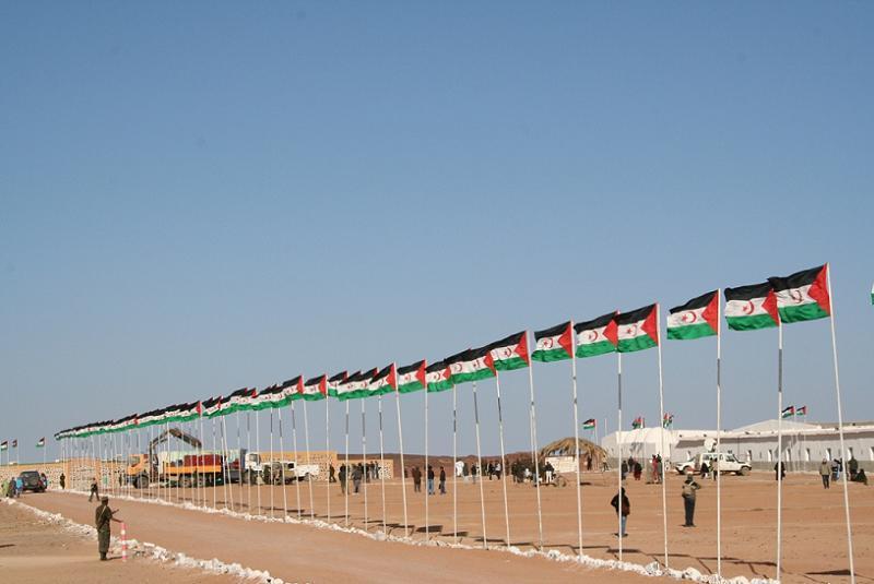 Polisario Flag Row