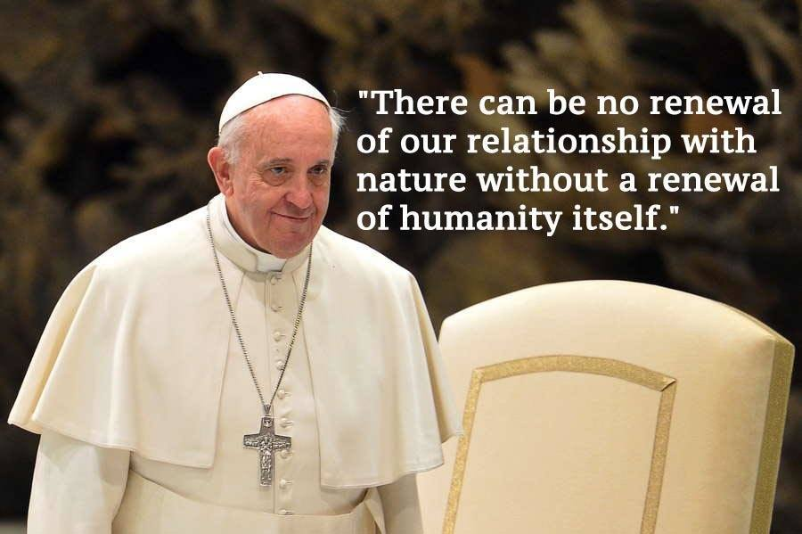Pope Francis Climate Change Quotes Beige