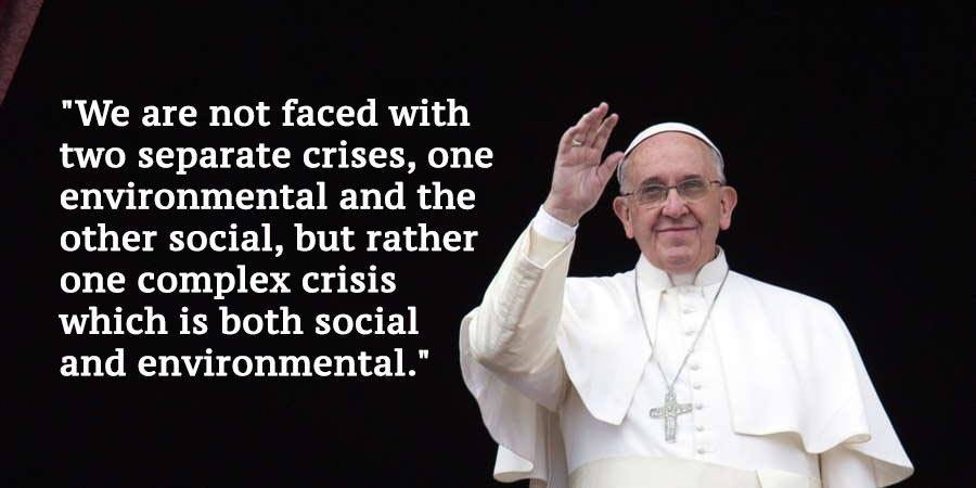 Pope Francis Climate Change Quotes Black