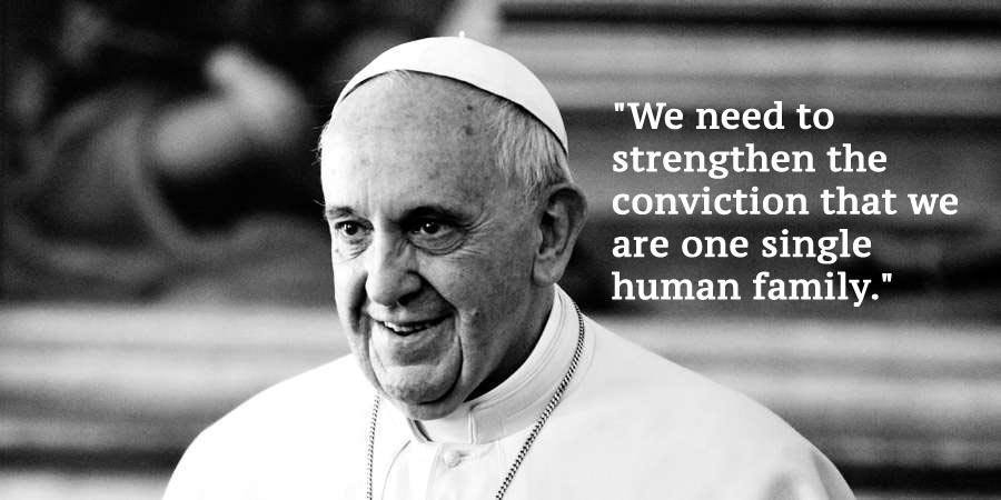 Pope Francis Climate Change Quotes Black White